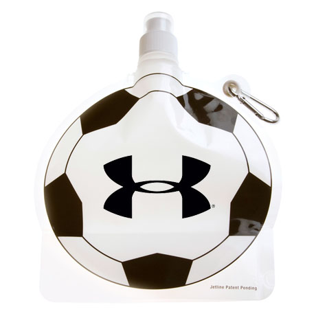 Collapsible Water Bottle - Soccer Ball, 24oz., BPA Free