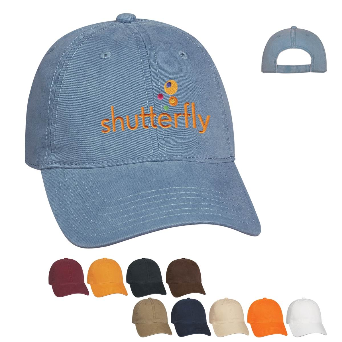 6 panel brushed cotton structured cap
