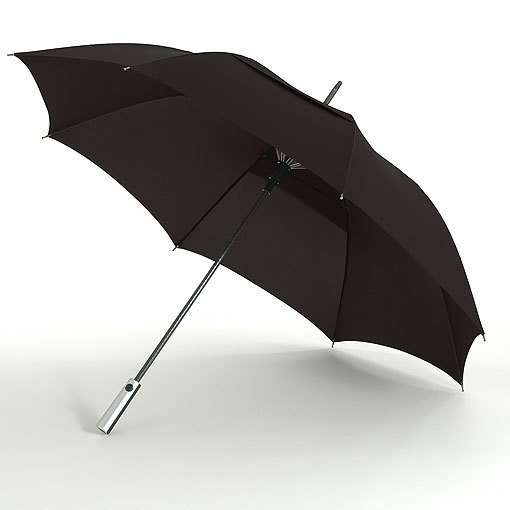 Black metal shaft golf umbrella