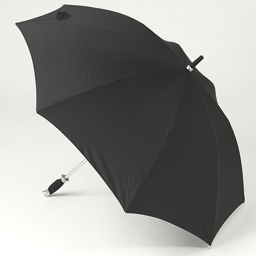 Black large vented windproof umbrella