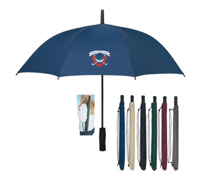 Traveler metal shaft umbrella