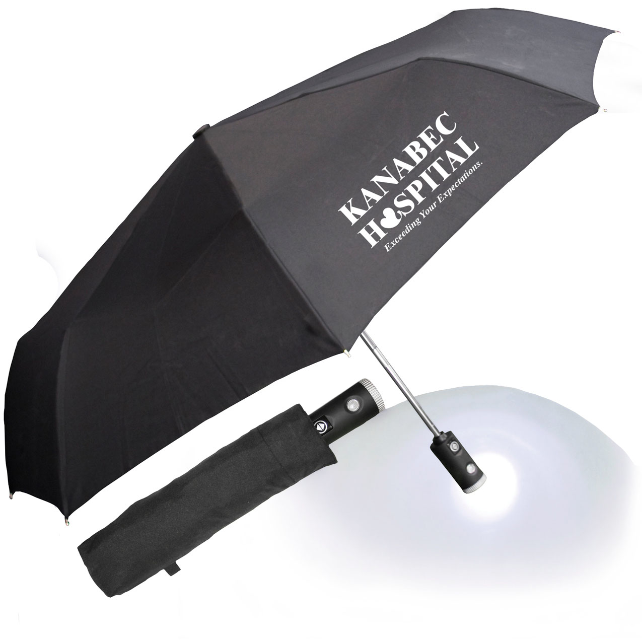 "42"" Auto Open Flashlight Umbrella"