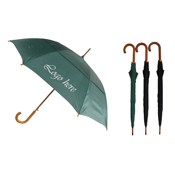 "Wood stick umbrella with vented canopy (46"" Arc)"
