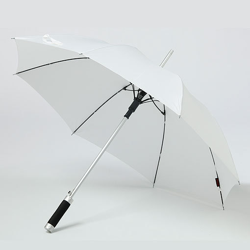 White large vented windproof umbrella