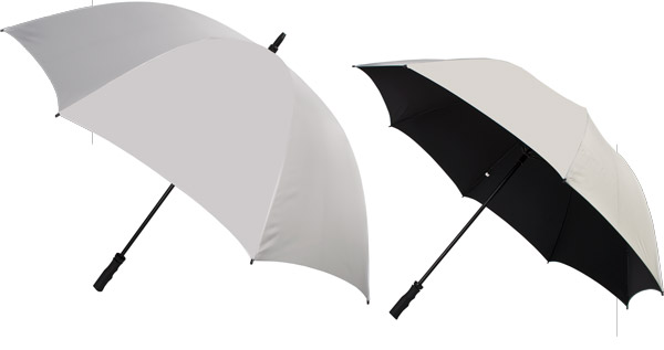 Silver vented windproof umbrella