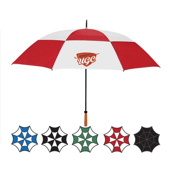 "Two tone 62"" arc double canopy umbrella"