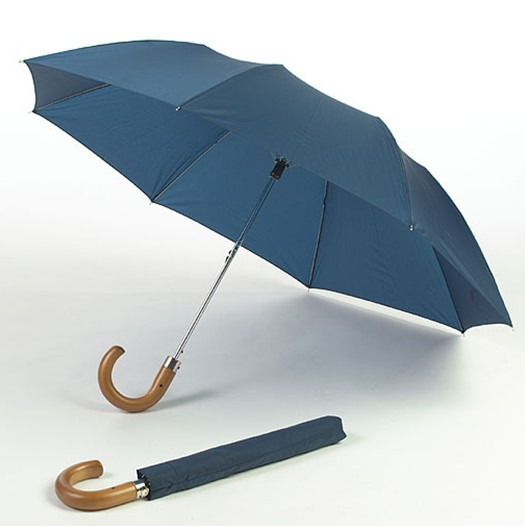 Classic telescopic folding umbrella with hook handle