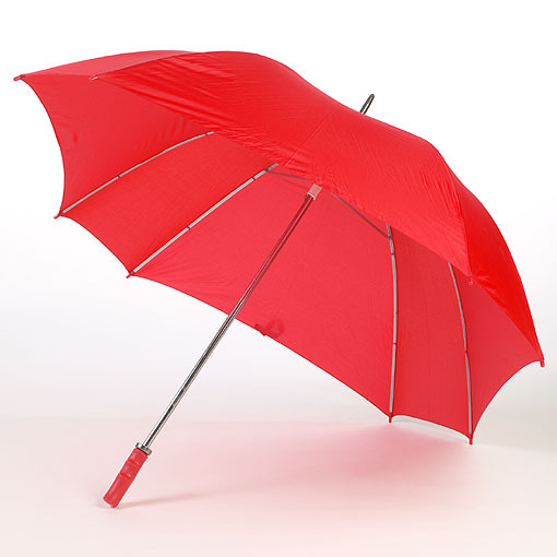 Red wood handle umbrella