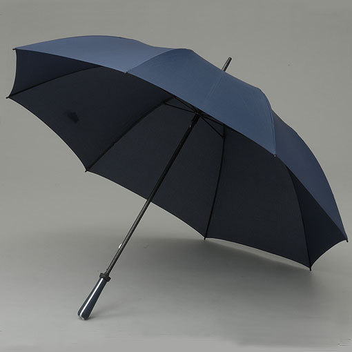 Navy golf umbrella with metal handle