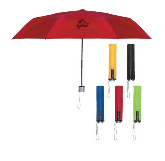 "41"" telescopic folding umbrella with plastic handle"