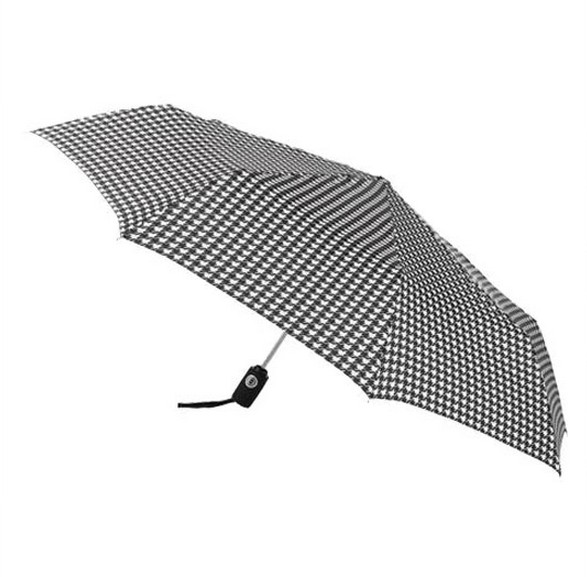 Checkered print lightweight umbrella