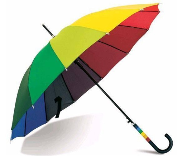 Multi-Colored styled stick umbrella