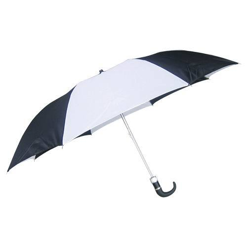 "42"" semi auto folding Umbrella with hook handle"