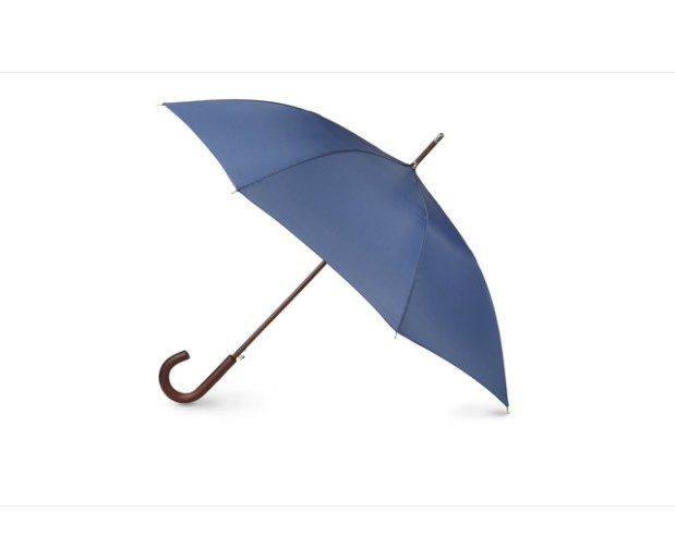 "48"" arc wooden shaft stick umbrella"